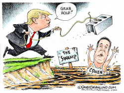 Cohen in the swamp by Dave Granlund