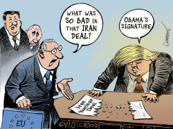 Why Trump hated the Iran deal by Patrick Chappatte