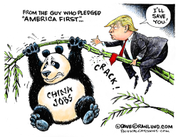 Trump and China jobs by Dave Granlund