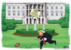 Trump Fumbles Eagles Ceremony by RJ Matson