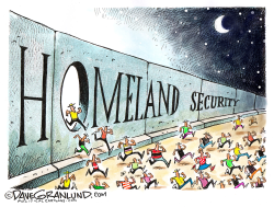 Border crossings up by Dave Granlund