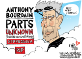 Bourdain by David Fitzsimmons, The Arizona Star, Tucson, AZ