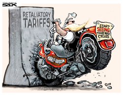 Harley Tariff by Steve Sack
