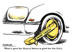 GM and Tariffs color by Jimmy Margulies