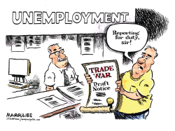 Trade War and jobs color by Jimmy Margulies
