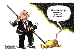 Trump and Putin Summit color by Jimmy Margulies