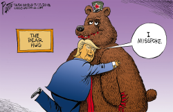 Trump's Bear Hug by Bruce Plante