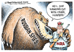 NRA and Russian agents by Dave Granlund