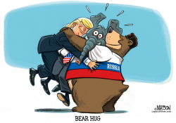 Republicans Caught In Middle of Trump Russian Bear Hug by RJ Matson
