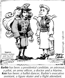 TRUE - Barbie and Ken Occupations by Daryl Cagle