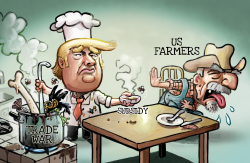 Trump Trade War and US Farmers by Luojie