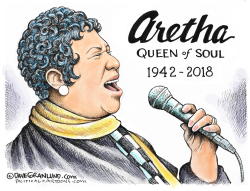 Aretha Franklin tribute by Dave Granlund