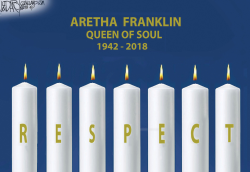 Aretha Franklin Memoriam by Jeff Darcy