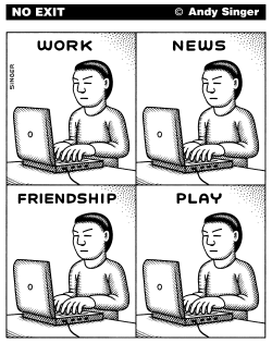 Work News Friendship Play by Andy Singer