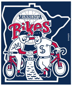 Minnesota Bikes color version by Andy Singer