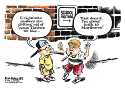 E-Cigarettes and Kids color by Jimmy Margulies