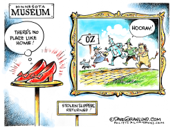 Stolen Ruby Slippers found by Dave Granlund