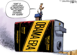 Obama Ignores Obama by Nate Beeler