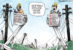 Hurricane Linemen by Joe Heller