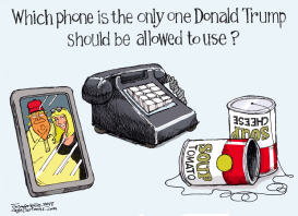 Trump Telephones by Bill Schorr