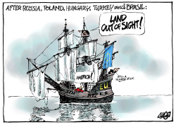 Making America far away again by Jos Collignon
