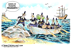 Invading migrants 1620 by Dave Granlund