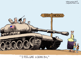Military on the Border by Bill Schorr