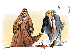 The USSaudi relation by Patrick Chappatte