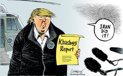 Trump's conclusion on Khashoggi by Patrick Chappatte