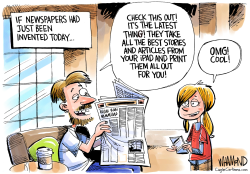 Newspapers are the Latest Thing by Dave Whamond