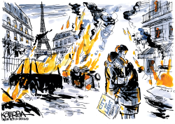 Protests in France by Jeff Koterba