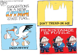 LOCAL Utah Flag by Pat Bagley