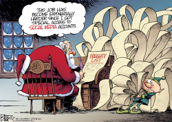 Santa Social Media by Nate Beeler