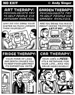 Art Garden Fridge and Car Therapy by Andy Singer