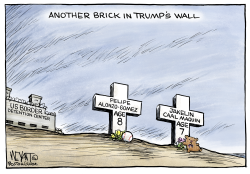 Another Brick in Trump's Wall by Christopher Weyant