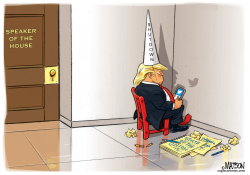 Speaker Pelosi Puts Trump Dunce In Corner by RJ Matson