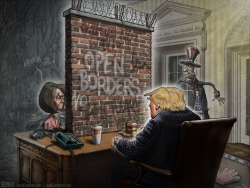 Wall Trump Pelosi by Sean Delonas