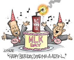 LOCAL NC NC legislature and MLK Day by John Cole