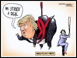 Nancy Pelosi's Trump Pinata by J.D. Crowe