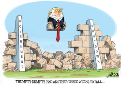 Trumpty Dumpty Has Another Three Weeks to Fall by RJ Matson