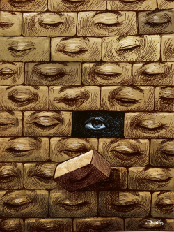 Wall of blindness by Dario Castillejos