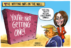 Writing on the Wall by Dave Whamond