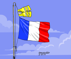 France and Yellow Vests by Arcadio Esquivel