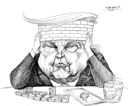 Trumps Headache wrap by Petar Pismestrovic