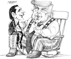 Sebastian Kurz of Austria Meets Donald Trump by Petar Pismestrovic