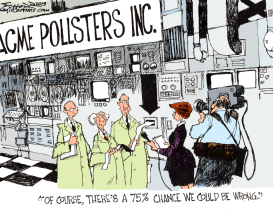 pollsters by Bill Schorr
