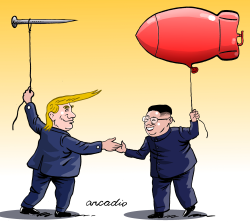 Trump Kim Summit by Arcadio Esquivel