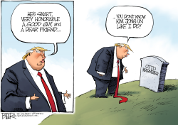 Trump and Otto Warmbier by Nate Beeler