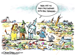 Alabama tornado victims by Dave Granlund