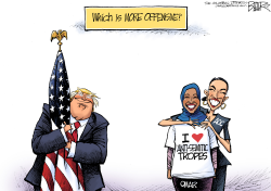 Offensive Hug by Nate Beeler